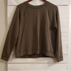American Eagle Outfitters Distressed olive top